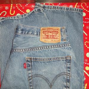 Levi's 550 Relaxed Fit Size 36x30 Blue Jeans!